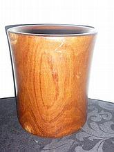 Chinese Timber Brushpot 22cm In Height