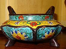 Chinese Bronze Cloisonne Incense Burner