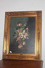Still Life Oil Painting In Gilt Frame Signed Lower Right HRIS. 93cm x73cm