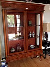 French Emperor Display Cabinet Supported By Two