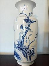 A Beautiful Chinese Blue & White Vase Decorated