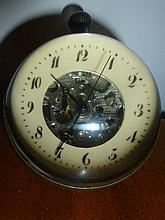 Ball Clock With Exotic Scenes To Rear
