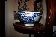 Chinese Blue And White Porcelain Bowl Decorated Wi