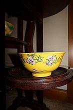 Chinese Bowl Decorated With Exotic Birds And Flowe