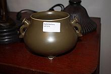 Chinese Green Porcelain Incense Burner Marks TO Ba