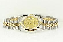 Rolex Oyster Perpetual 'Datejust' 18ct yellow gold