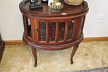Mahogany Oval Drinks Cabinet 75xm Height x 72cm Le