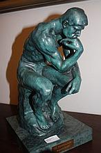 The Thinker, bronze sculpture after Auguste Rodin