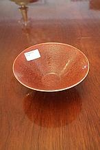 Chinese Porcelain Red Bowl Marks TO Base 8cm x 16c