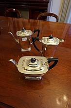 Three Piece Silver Plated Tea And Coffee Set