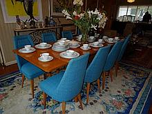 Eight Piece Retro Dining Set Including Table And Seven Chairs