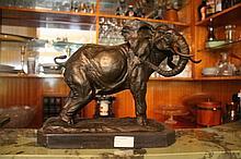 Elephant, bronze sculpture after Antoine Louis Barye 30cm h - 31cm w