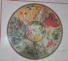 The Sorcerer of Music, facsimile signed limited edition offset lithograph after Marc Chagall 91cm x 100cm Including Frame