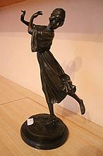 Dancer with Roses, bronze sculpture after P. Phillipe