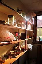 Contents Of Cupboard Including Australian Pottery Jars ETc