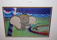 Walt Disney Company, limited edition serigraph cell, Dumbo 46cm x 55cm