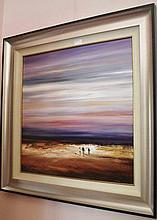 Colin Parker oil on board, The Swept Sky, signed 79.5cm x 79.5cm