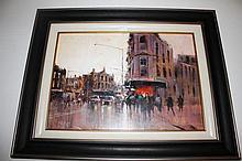 Herman Pekel oil on board, Oxford Street, Darlinghurst, signed 61cm x 79cm