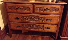 Queensland Maple Edwardian Four Drawer Chest Of Drawers 93cm h , 123cm L