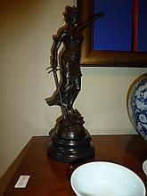 Justice Girl, bronze sculpture