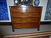 Antique Flamed Mahogany Five Drawer Chest Of