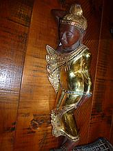 Oriental Carved Timber Godess Very Well Carved In