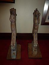 Pair Of Carved Horse Statues. Good Interior Design