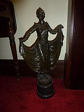 Baroness, bronze sculpture