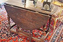 17/18 Century Oak Gate Leg Table 72cm Height