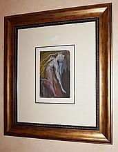 Salvador Dali colour engraving, Divine Comedy Series c1960  Ref:AF189 68cm x 59.5cm ( Including Frame)