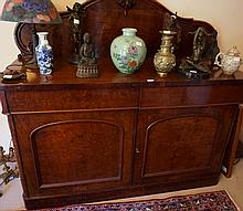 Victorian mahogany Sideboard With Two Drawers Below Two Arched Doors 155cm H x 152cm L 56cm D