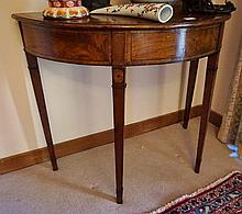 Antique Inlayed Mahogany Hall Table 72cm in Height