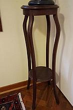 Mahogany Two Tier Plant Stand 93cm in Height
