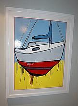 Jasper Knight acrylic & enamel on card, (Titled on front) signed 124cm x 98.5cm ( Including Frame)