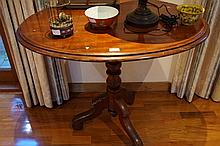 Victorian Oval Shaped Centre Table On Tripod Base 78cm h x 93cm