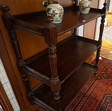 Victorian Three Tier Serventry On Four Turned Column Supports