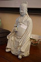 Chinese Porcelain Figure Of A Wiseman 32cm x 16cm