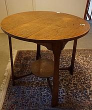Edwardian Arts And Crafts Maple Two Tier Centre Table 74cm x 75cm Diameter