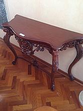 Magnificent Mahogany Carved French Console