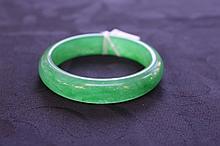 Rare Chinese Jade Emerald Bangle
