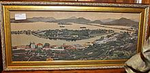 Rare Embroidery of Old Hong Kong 19cm x 49cm