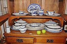 Large Collection Blue And White China Including Old Willow