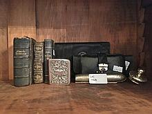 Group of Collectables Including Silver Fronted Common Prayer Book, Silver Lid Book, Cigar Holder, Victoroan Reading Glasses Etc