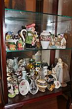 Two Shelf Lots of Collectables Including, Royal Doulton,  Aynsley, Coalport, Trinkets, Etc.