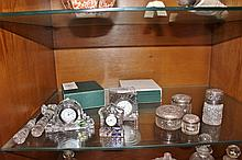 Collection of Waterford Crystal Including Clocks, Knife Etc.