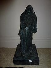 Balzac, bronze sculpture 75cm In Height Dressed In