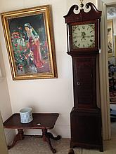 Beautiful Oak Cased Georgian Grand Father Clock