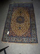 Rug, hand made Isfahan (fine weave), origin Iran,