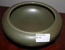 Chinese Green Brush Washer 9cm x 18cm Marks TO Bas
