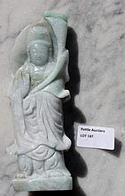 Chinese Jade Carved Goddess Figures 17cm x 7cm